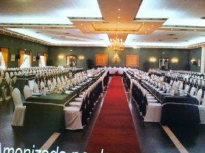 Pasillo principal del salón de bodas