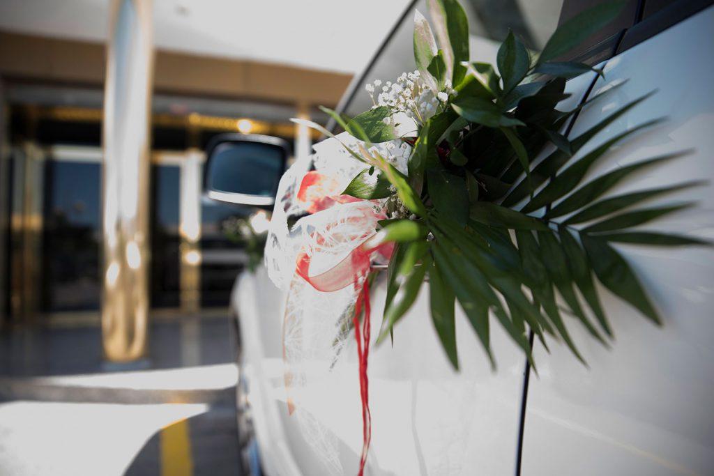 Detalle coche nupcial en Mirador de Puerta Real (Mancha Real).